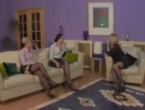 Trhee women domanate sissy Nude redhead and feet