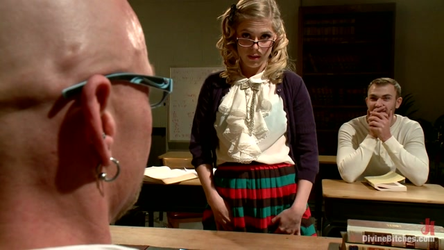 Penny Pax & Christian Wilde & Chad Rock in Bratty Princess Penny Cuckolds Her Teacher In Front Of The Class - DivineBitches Huge curved cock