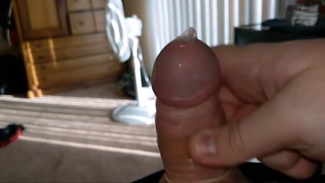 My small dick cumming in a condom in slow motion Dildo barely fits in tight bbw