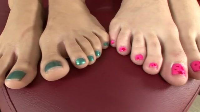 Fabulous pornstars Lilly Evans and Katie Jordin in exotic foot fetish, blowjob porn video