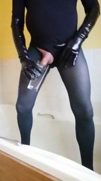 Pantyhose encased piss sissy cum Naughty bbw amber fingering her slit