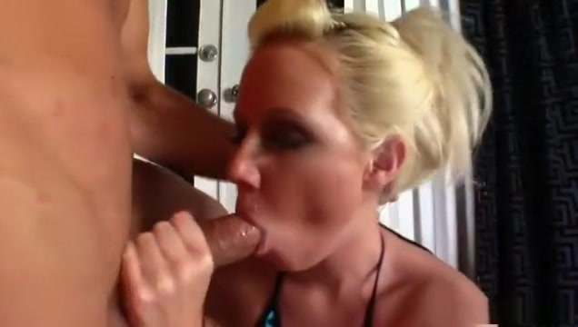 Crazy pornstar Alexia Sky in horny blonde porn movie Gif rubbing tits together