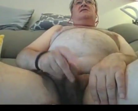 Grandpa stroke on webcam 1 French kiss textures