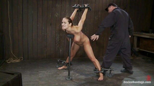 Trina Michaels in Trina Michaels Batter Up! - DeviceBondage Dude Coazes Teener To Help Him Jack Off