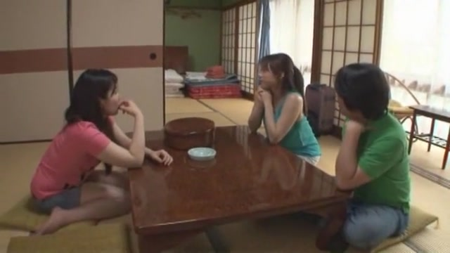 Hottest Japanese whore Ribon Aikawa, Yuna Mizumoto in Exotic Blowjob JAV clip
