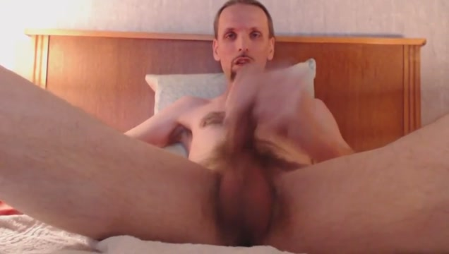 Huge cumshot on balls and long ballsack after masturbating Awesome new sex positions