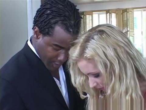 Exotic pornstar Hillary Scott in horny interracial, blonde adult scene