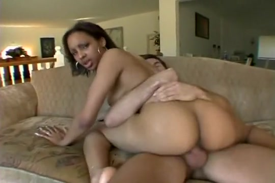 Ebony Patrice sucks a white cock before he drives it into her twat