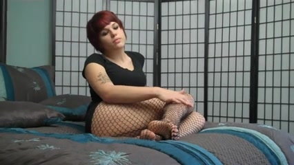 Princess Mackayla fishnet stockings jerk off encouragement