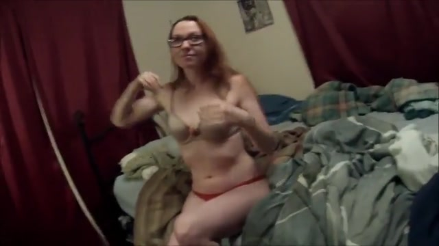 Banging the whole redhead slut cum in panties before shopping soaked with cum 3
