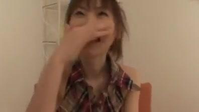 Sexy japanese girl sucks and jerks average cock! Asian hair & makeup