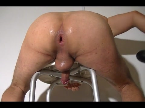 BUTTPLUGS COPILATION Nude on exercise ball