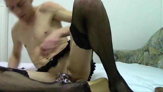 Sissy slave-slut opens chastity to eat cum Yaoi hentai online