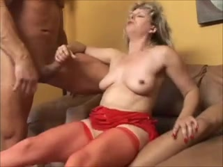 Aged Woman in Hawt Underclothing Gives Her Holes For 2 Mens i play in dirt lookin ass