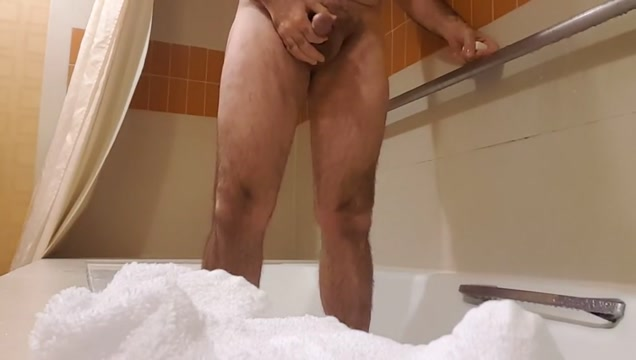 Soapy jerk off in shower. Nice cum shot. Hairy bear Mature redhead skinny tits
