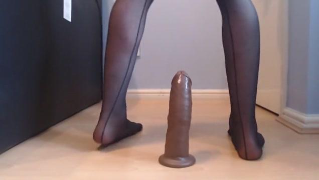Sissy femboy rides dildo like a pro Black mature women sex video