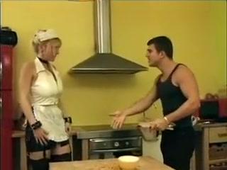 Hottest amateur Blonde, Stockings adult scene
