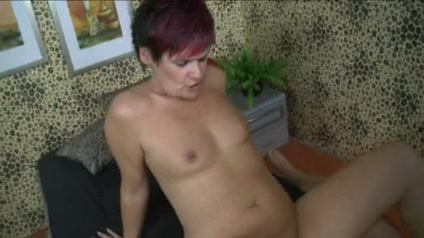 Masturbation on Older (Trying to Cum) Chubby milf gettin fucked