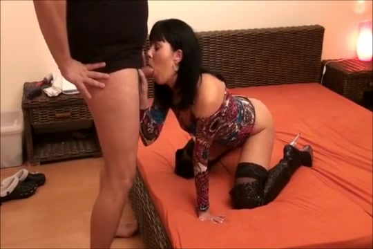 Horny amateur MILFs, Brunette porn scene Pissing and licking in street