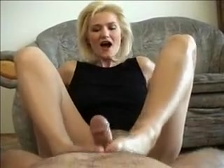 Amazing homemade Blonde, Fetish porn clip Sexy blond slut in socks