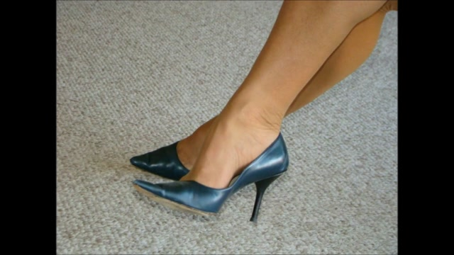 Fuck and Cum Navy Leather High Heel Shoes Female porn star bree olsen nudes
