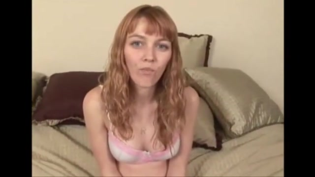 Petite redhair college girl