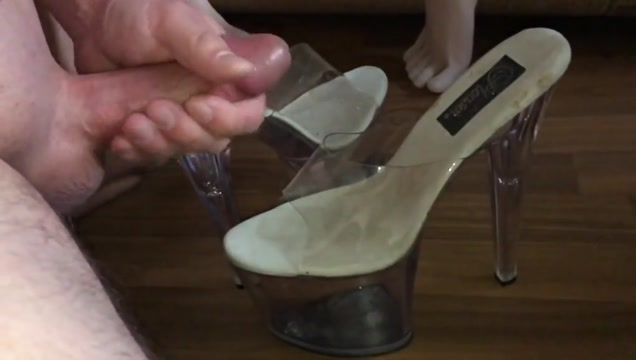 Cum on high heel shoejob footjob fetish slow motion video malayu budak tiada bulu boket
