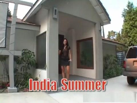 Crazy pornstar India Summer in hottest piercing, brunette porn clip