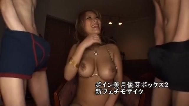Horny Japanese chick Minami Ayase in Incredible Blowjob, Threesomes JAV movie