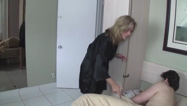 Mom helps son masturbate