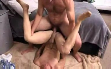 First time gay bareback anal with two hot guys guy fucks his hot cousin