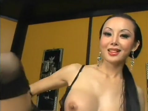 Nasty Asian milf with big boobs and long black hair loves anal action steuben glass bear paperweight