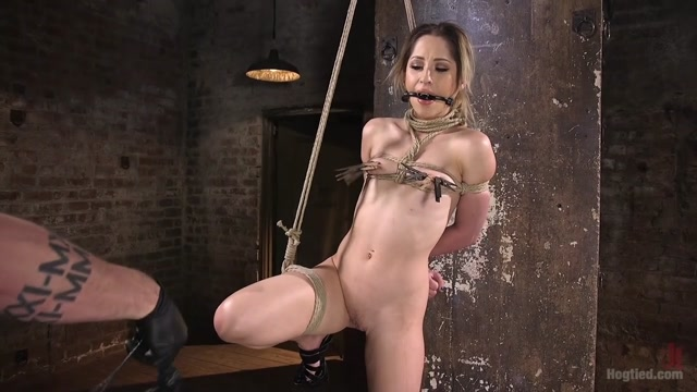 Goldie Rush & The Pope in Cute La Porn Slut In Brutal Bondage And Abused Then Made To Cum - HogTied