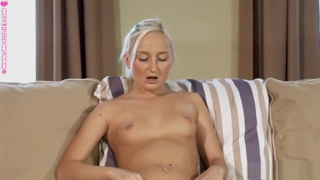 Sweet blonde drops her panties and fucks herself with a golden dildo religion based porn movies