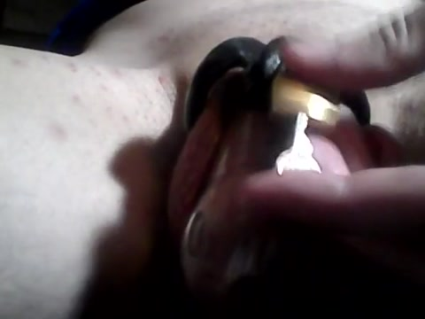 Chastity cage removal cock enjoys its newfound freedom Seducing girl getting deep pussy massage