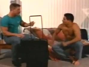 Crazy gay movie with Sex, Vintage scenes Big black ass dildo ride