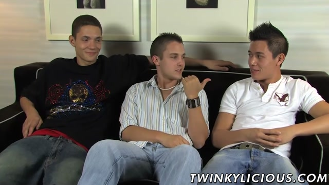 Threesome jerking with Trevin Nills Michael Lee and Ty Sloan Sexy costume for men
