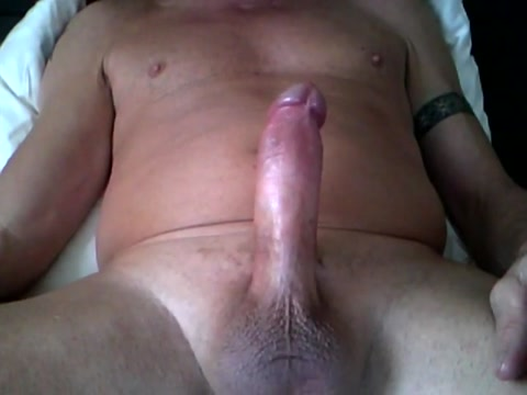 Dripping oil on throbbing cock, precum and cumshot Monster dikz