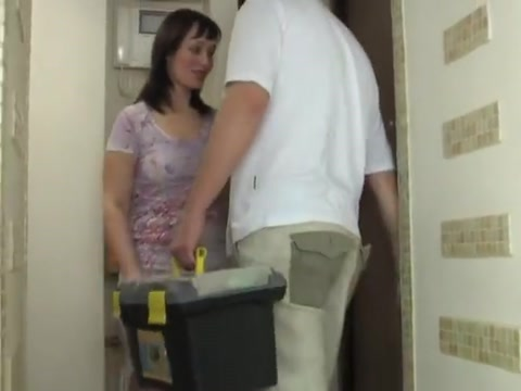 Mature and repairman Fuck my ass before your wife is hme
