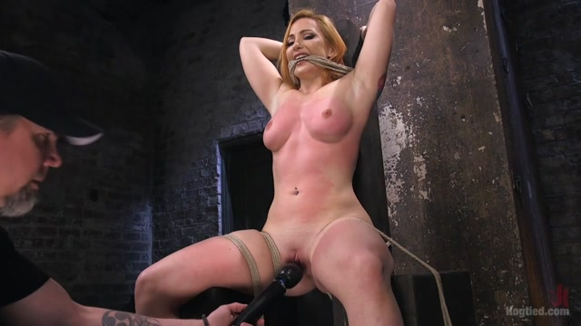 Sophia Locke & The Pope in Warning Extreme Torment, Water Boarding, And Brutal Bondage - HogTied Sexy blond naked women with glasses