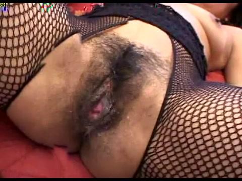 Crazy homemade Fishnet, Creampie sex clip