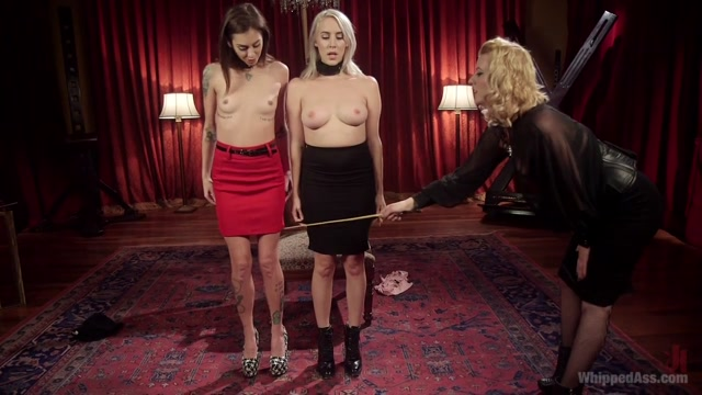 Kacie Castle & Cadence Lux & Cherry Torn in Date Night With A Dominatrix: Lesbian Couple Submits To Cherry Torn - WhippedAss Fisting and pissing