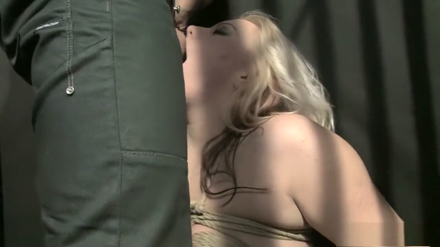 Busty blonde MILF is slave of the day getting her body worked over