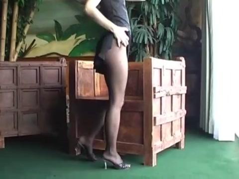 Black pantyhose girl shameless womens nude naked