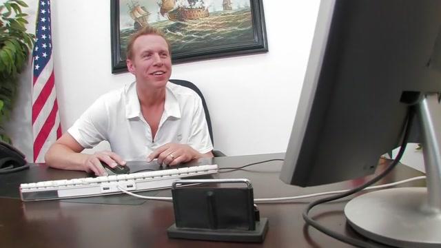 Amber Blowjob RimjobBall lick Prostate massage cumshot Sex with busty office secretary