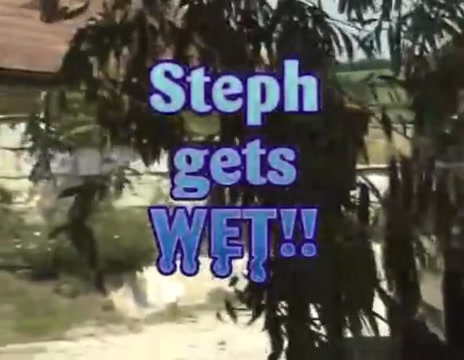 Classic steph gets wet