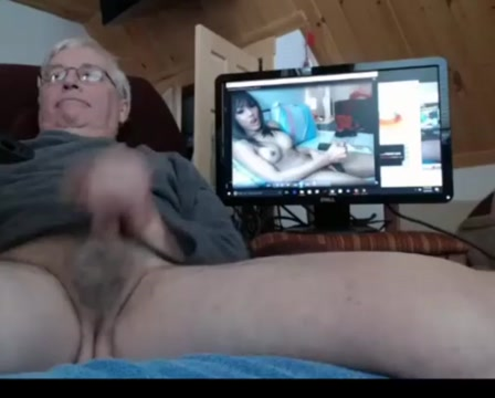 Grandpa cum on webcam 2 sexy girl in maid costume and deeper
