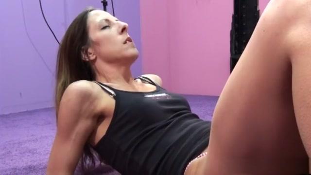 Horny pornstar Marie Madison in fabulous blowjob, brunette adult scene Belly rumble