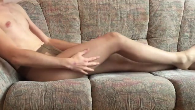 Pantyhose wank with cumming work in the sex industry