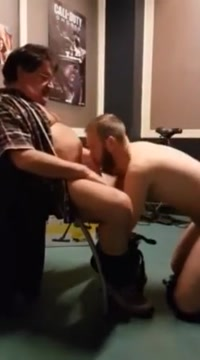 Giving my father his first blowjob in my room real college sexy parties suck